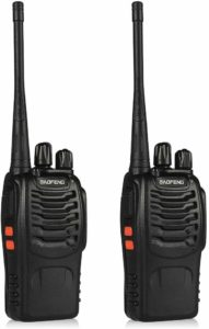 This is an image of black BaoFeng BF-888S walkie talkie
