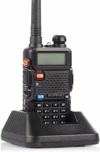 This is an image of BaoFeng uv 5R walkie Talkie