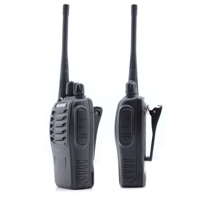 This is an image of a Baofeng BF-888S radio, black
