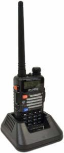 This is an image of Baofeng Black UV-5R  walkie Talkie
