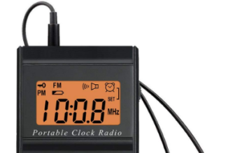 This is an image of Mini portable FM radio By dream sky in black color