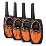 this is an image of FLOUREON 4 Pack Kids Walkie Talkies, black in color
