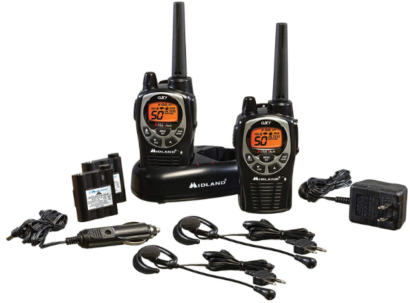 This is an image of kid's walkie talkie by Midland in black color