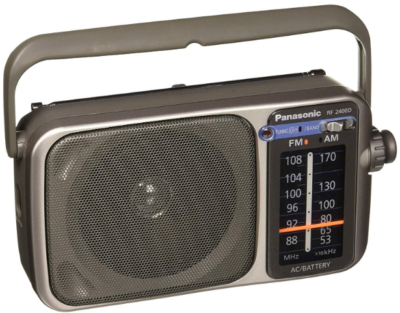 This is an image of Radio by panasonic in silver color