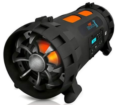 This is an image of High powered portable blaster X in black color