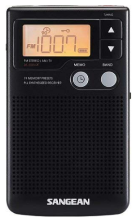 This is an image of Sangeon DT 200X FM in black color