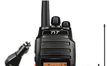 This is an image of ham radio TYT in black color