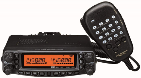 This is an image of Radio ham yaesu FT 8900R in black color