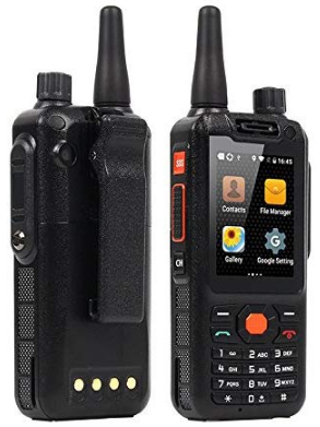 This is an image of kid's zello walkie talkie working with 4G in black color
