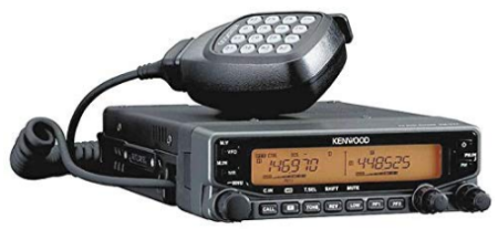 This is an image of radio ham kenwood original TM V71A in black color