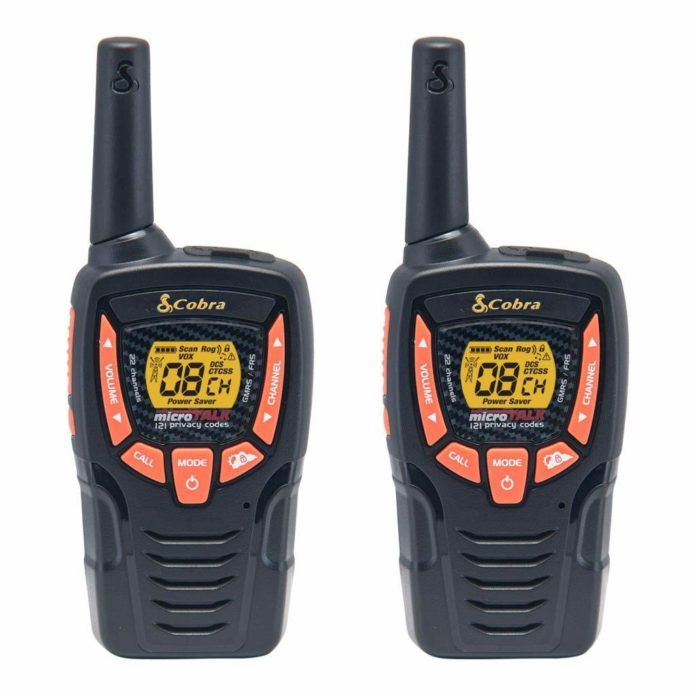 This is an image of 2 Cobra ACXT345 Walkie Talkies