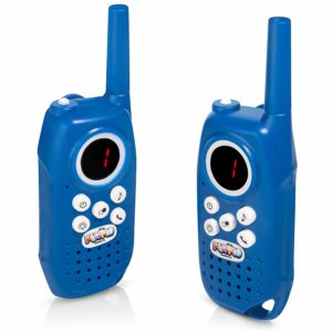 This is an image of two sets of Playco Walkie Talkies for Kids, blue in color
