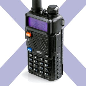 This is an image of Black BTECH UV-5X3 amateur radio