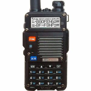 This is an image of black BaoFeng BF-F8HP walkie talkie