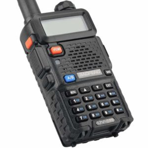 This is a photo of Biofeng UV 5R Black walkie talkie