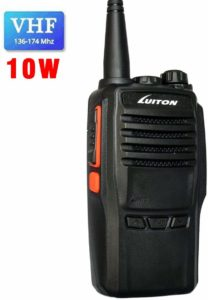 This is an image of Black LUITON LT-188H VHF walkie Talkie