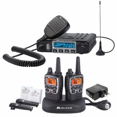 This is an image of a MicroMobile Farm Radio Minland walkie talkie.