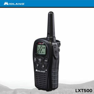This is an image of black Midland LXT500VP3 walkie talkie
