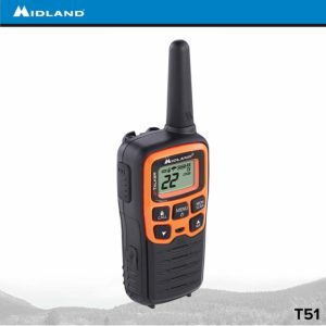 This is an image of black and yellow Midland X TALKER T51VP3 walkie talkie