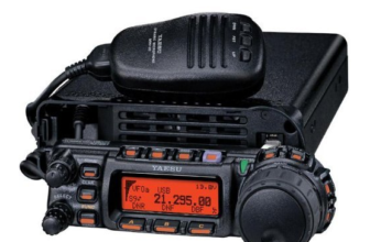 Black Yaesu Radio and Transceiver