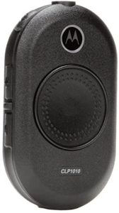 This is an image of black Motorola CLP1010 radio