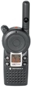 This is a black image of Motorola Professional CLS1410 radio