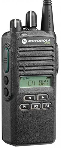 This is an image of black Motorola cp185 walkie talkie