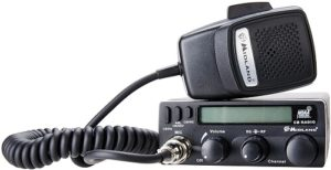 This is an image of a black Midland 1001LWX 40 Channel CB radio