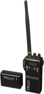 This is an image of a black Midland 75-822 CB radio