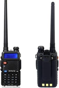 This is an image of Retevis RT 5R handheld radio for adults