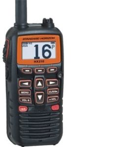 This is an image of Standard Horizon HX210 two way radio