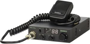 This is an image of a black Uniden PRO510XL CB radio