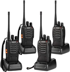 This is an image of ANSIOVON Walkie Talkie 4 pack