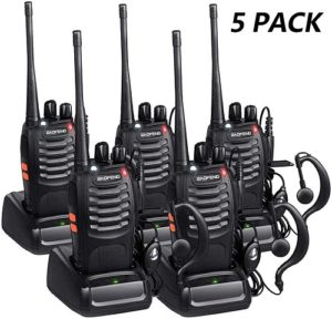 This is an image of Baofeng Long Range 5 pack walkie talkie