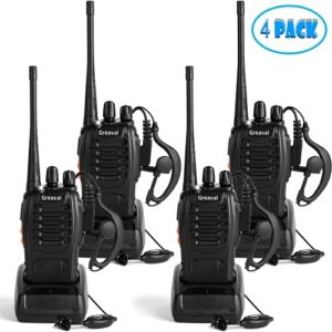 Greaval Rechargeable Walkie Talkies 4 Pack