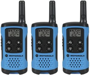 This is an image of a Motorola T100TP Talkabout Radio, 3 Pack