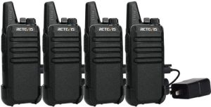 Thi is a Retevis RT22 4 pack Walkie Talkies