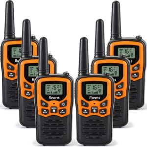 This is an image of Rivins R7 6 walkie talkies for adults
