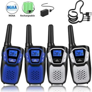 This is an image of Topsung Walkie Talkies Rechargeable, 4 Pack