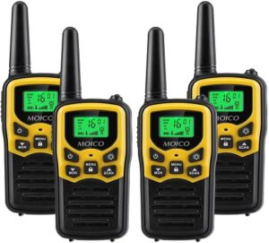 This is an image of Moico 4 pack walkie talkies