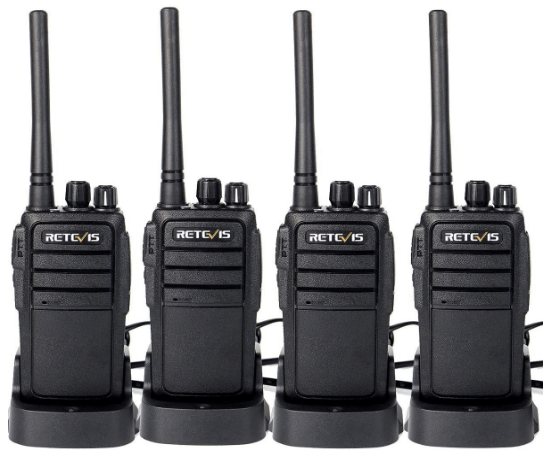 Case of 4,Retevis RT21 Walkie Talkies Adults Rechargeable, Two Way Radios Long Range,16 Channels VOX Scan Emergency 2-Way Radio for Family and Small Organization Business