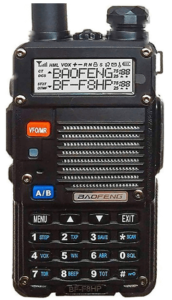BaoFeng BF-F8HP (UV-5R 3rd Gen) 8-Watt Dual Band Two-Way Radio (136-174MHz VHF & 400-520MHz UHF) Includes Full Kit with Large Battery