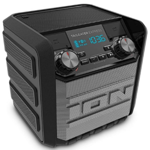 ION Audio Tailgater Express | Compact Water-Resistant Wireless Speaker System with AM/FM Radio & USB Charge Port (20W)