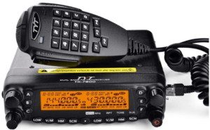 This is an image of a black TYT TH-7800 50W VHF/UHF Dual Band Car Truck Ham Radio Base Station Mobile Transceiver