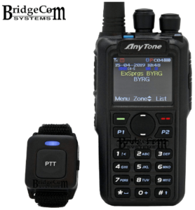 This is an image of a black AnyTone AT-D878UV DMR radio