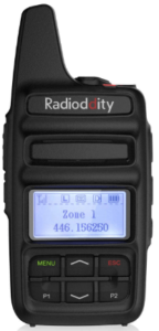 This is an image of a black Radioddity GD-73A DMR radio
