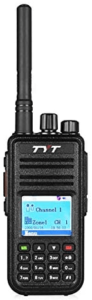 This is an image of a black TYT MD-380 DMR Radio